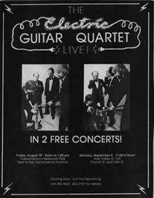 Electric Guitar Quartet flyer